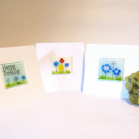 Fused Glass Blank Cards (Set of 3)