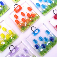 Mini Meadow Fused Glass Suncatcher (Choice of Colours)