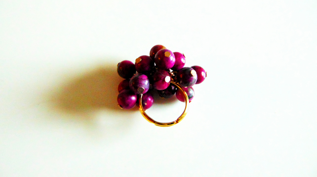 Purple Jasper Cluster Ring
