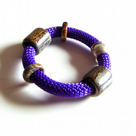 Harbour Purple Knitted Bracelet
