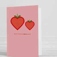 Love You Berry Much Blank Greeting Card