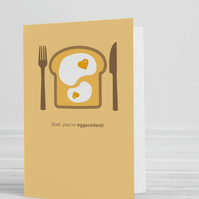 Dad, You're Eggscellent Blank Greeting Card