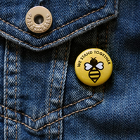 Manchester We Stand Together Bee Button Badge