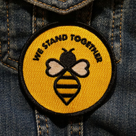 Manchester We Stand Together Bee Patch