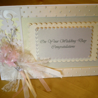 Wedding Card - Congratulations - Handmade and Personalised