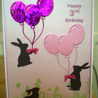 3rd Birthday Card - Personalised and Handmade