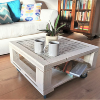 Recycled rustic coffee table made from pallets