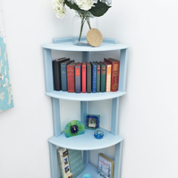 Freestanding corner shelving, corner shelf unit