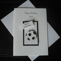 Football Birthday Card Any Relation Dad Grandad Son or Name Male or Female