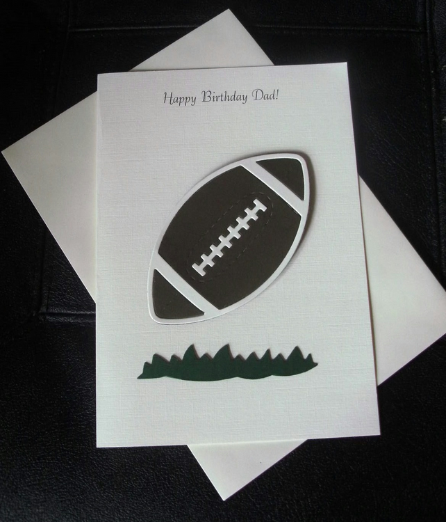 Rugby Birthday Card Any Relation Dad Grandad Son or Name Male or Female