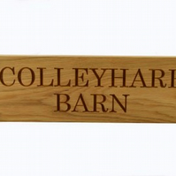 House Sign, Carved Oak House Sign, Personalised up to 1000mm long, 2 Lines