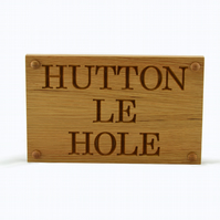 House Sign, Carved Oak House Sign, Personalised up to 500mm long, 3 Lines