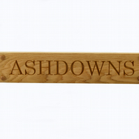 House Sign, Carved Oak House Sign, Personalised up to 500mm long, 1 Line