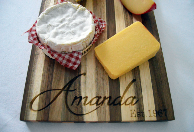 Personalised Cheese & Cracker Board, Cheese Board,Cheese Serving Platter