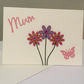 Mum pink and purple flower card