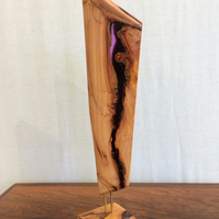 English yew wood resin sculpture