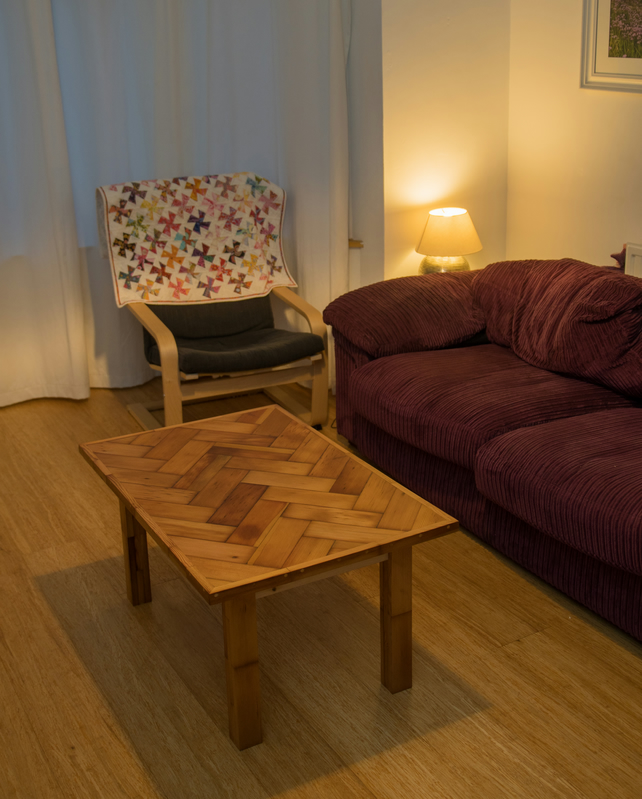 pitch pine parquet floor coffee table folksy. Black Bedroom Furniture Sets. Home Design Ideas