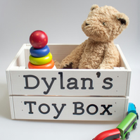 Personalised Wooden Toy Crate - Large