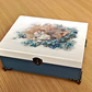 "NEW Jewelry Box Storage Organizer Wood Case ""SWAN"""