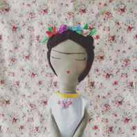 Frida Kahlo Tribute Doll