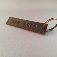 Leather Man Shed Key Fob