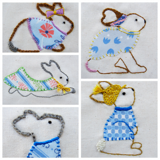 Embroidery Pattern- 'Little Appliques'.PDF, Rabbit Decoration