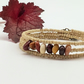Mookaite memory wire wrap around bracelet