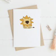 Cute Lion Card