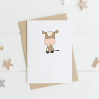 Cute Cow Card
