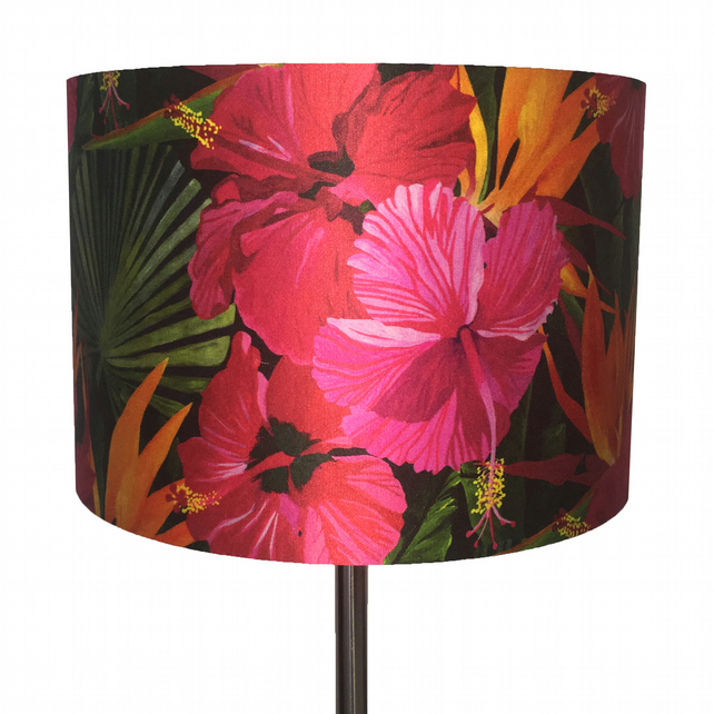 Hibiscus colour burst lampshade