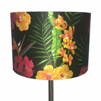 Hawaiian flora lampshade