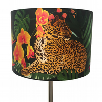 Jungle cat lampshade