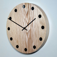 Hand Turned Wooden Wall Clock