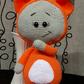Bonnie fox, amigurumi, handmade, showergift for baby, crochet toys