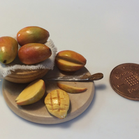 Dolls House Miniature Food - 1:12th Scale, Ripe Mangoes