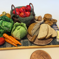 Dolls House Miniature Food - 1:12 Scale,  A Small Bounty