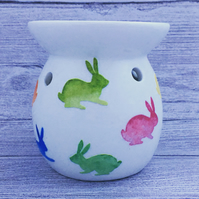 Hand decorated oil burner