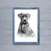 Art print, wall art, limited edition dog print from an original watercolour