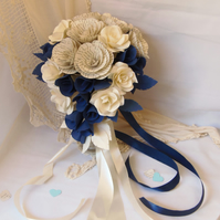 Literary Bouquet ASTORIA Small Teardrop Style Book Page Wedding  Flowers