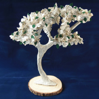"Book Art Tree 10"" Agatha Christie Poirot Book Pages"