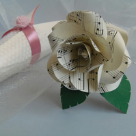 HANDEL Sheet Music Paper Rose Gift Wrapped Music Lover