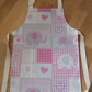 Child's BoBo Elephant Pink Oilcloth Apron  - Age 5-6 years
