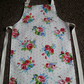 Child's Wipeable Pretty Floral Oil Cloth Apron - Age 7-8 years
