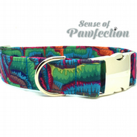 Aurora Medium size Dog collar from the 'Dogadelic Collection'