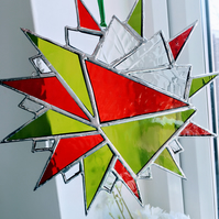 Stained Glass Hanging Star Suncatcher