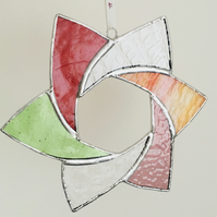 Stained Glass Colourful Star, Hanging Star Decoration for Christmas
