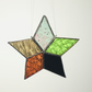 Stained Glass Christmas Star Multi-coloured with dark red and orange Ref MCS1