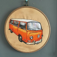 Orange VW Camper