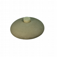 Cement tealight candle holder