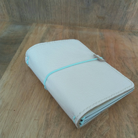 Leather A6 Travellers Notebook Cover in Cream